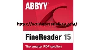 ABBYY FineReader 15 Crack & Full Licence Key