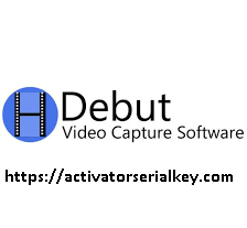 Debut Video Capture 6.11 Crack With License Key 2020